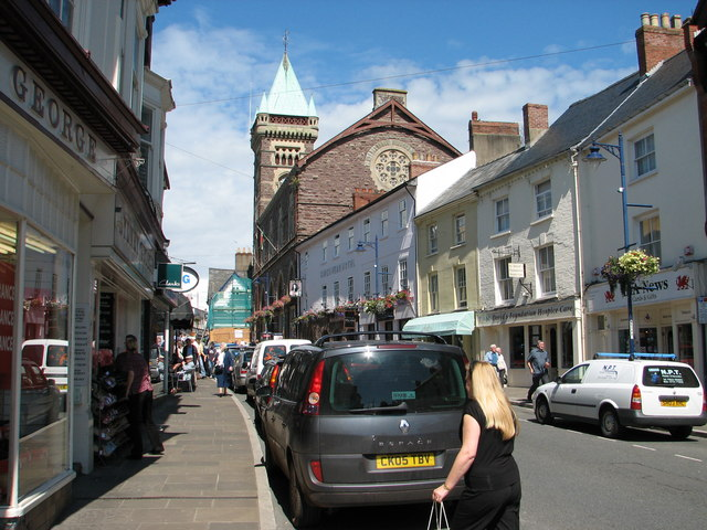 Abergavenny - Cross Street and the Market Hall