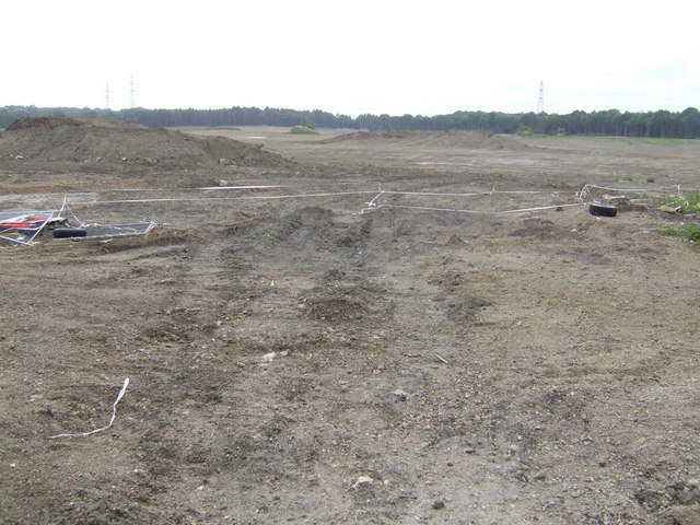 Cleared land on the edge of Corby