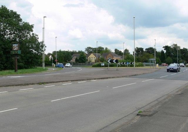 Glen Road roundabout