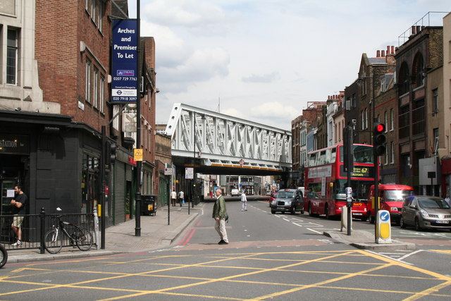 Former North London Railway viaduct over Kingsland Road, London