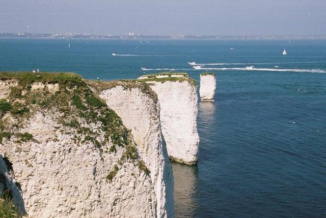Chalk cliffs at Handfast Point