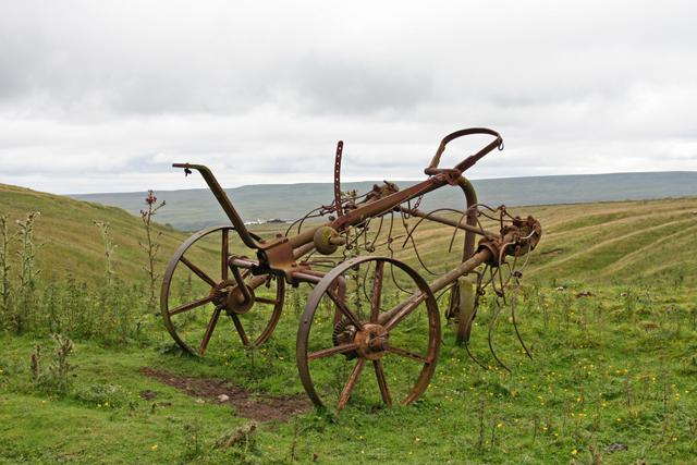 Old hay turner