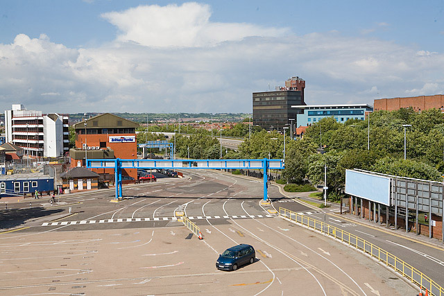Vehicular entrance to continental ferry port, Portsmouth