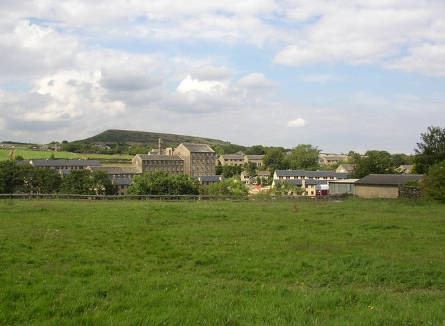 View of mills at Upper Sunny Bank, Meltham