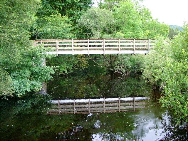 Footbridge over the Palnure Burn at Corwar