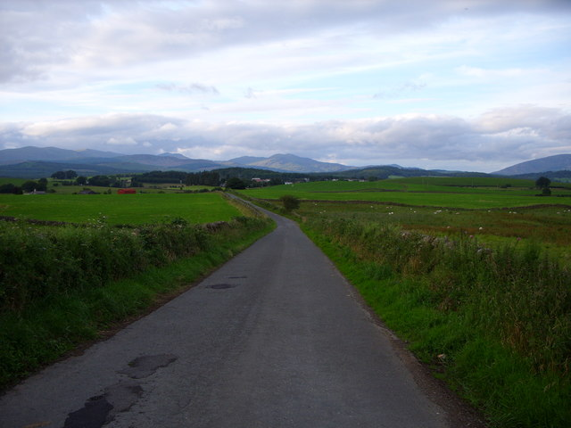 Knockbrex road looking towards Newton Stewart