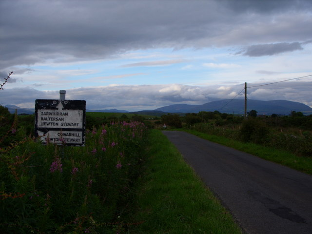 Road sign at Barvennan Junction