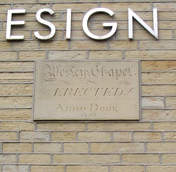 Plaque on former Methodist chapel, Mill Moor Road, Meltham