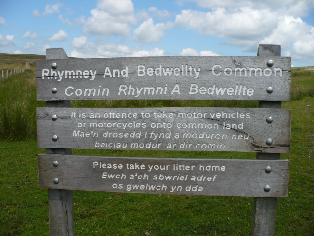 Sign onto Rhymney & Bedwellty Common