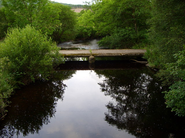 Roadbridge across the Palnure Burn at Corwar