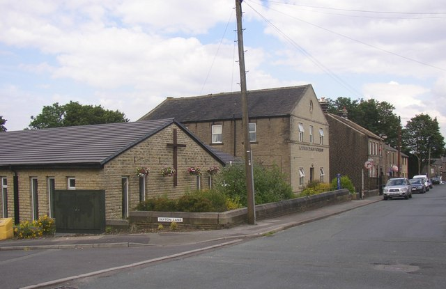Old and new chapels,  Mill Moor Road, Meltham