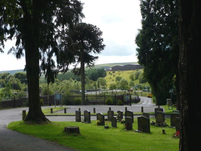 Entrance to Rhymney Cemetery