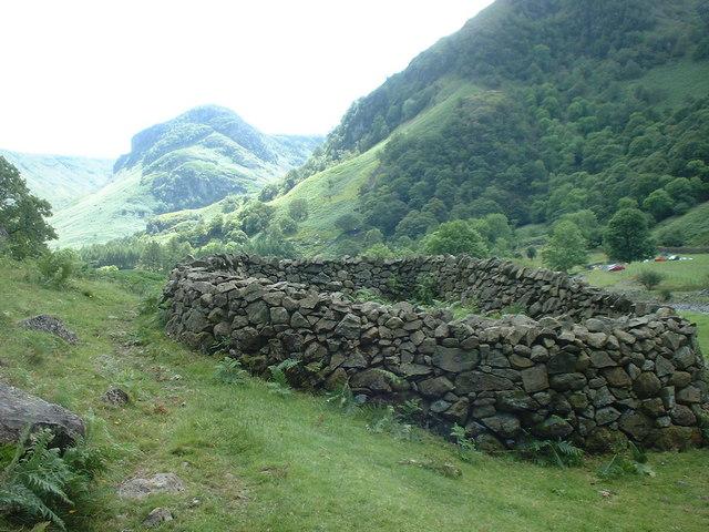 Sheepfold near Stonethwaite