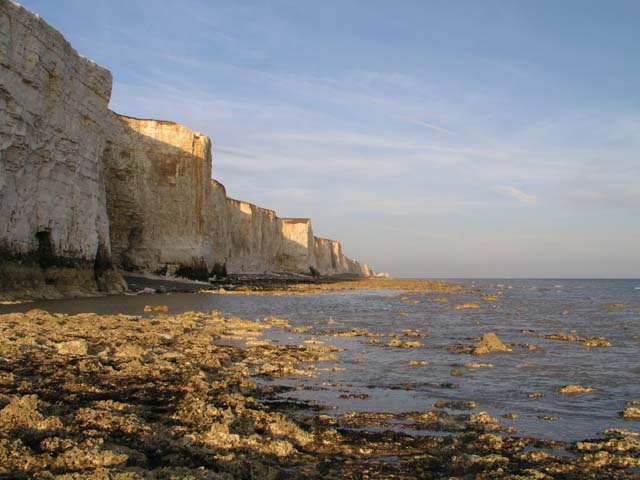Telscombe Cliffs at sunset