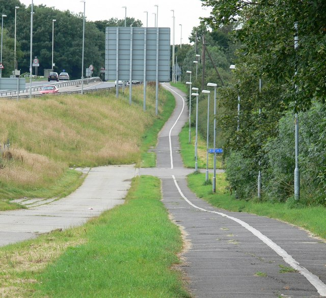Cycleway to Oadby
