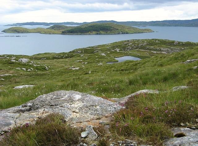 View to the sea from near Carragraich