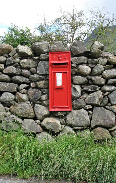 Victorian postbox at Wasdale Head