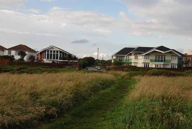 Typical seaside houses at Milford on Sea