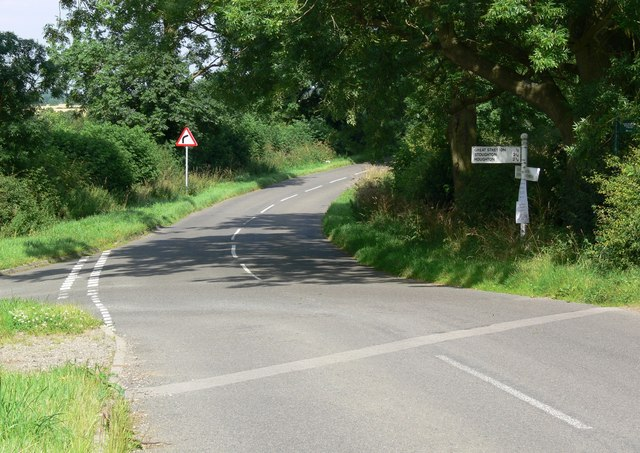 Junction of Gartree and Stretton Roads