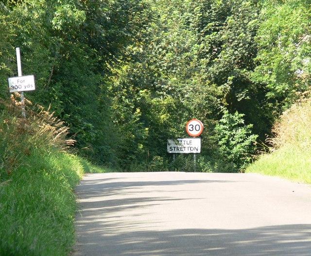 Approaching Little Stretton