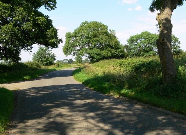Country road near Burton Overy