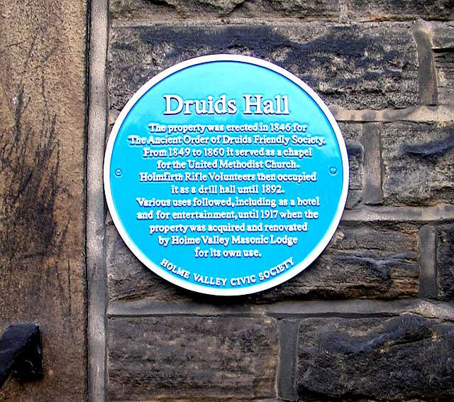 Druid's Hall - Blue Plaque - Station Road