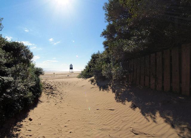 Footpath to the beach.
