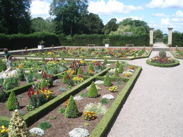 Sunken Parterre Garden at Hanbury Hall