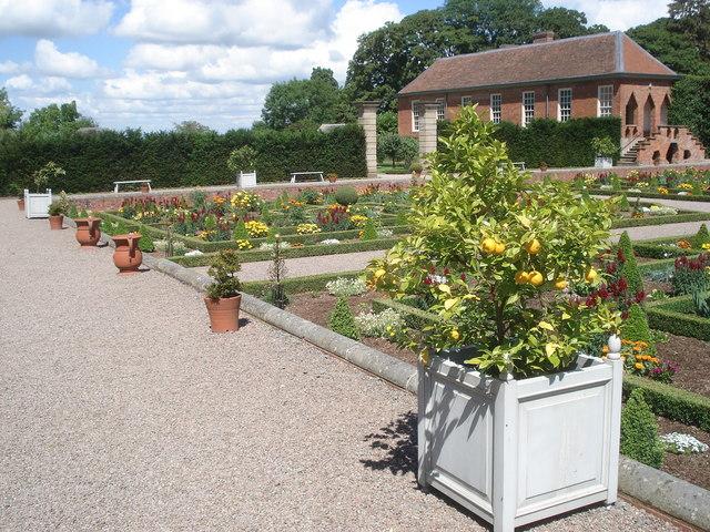 Hanbury Hall formal garden