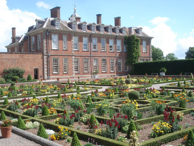 Hanbury Hall and the Sunken Parterre