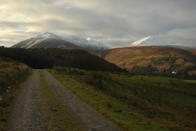 track to Dalbreac lodge