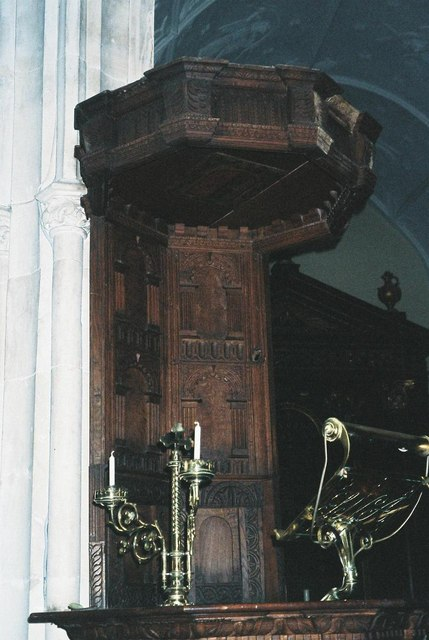 Bullet-holes in the pulpit