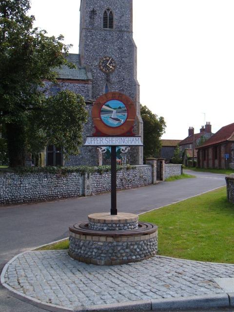 Upper Sheringham village sign