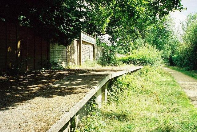 Ashley Heath: old railway platform