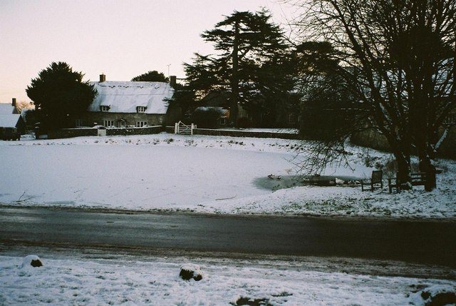Ashmore: pond in snow