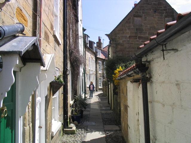 Narrow street in Robin Hood's Bay