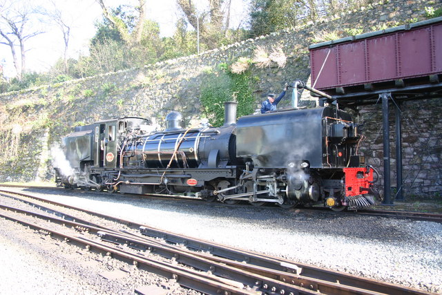 Taking water on the Welsh Highland Railway