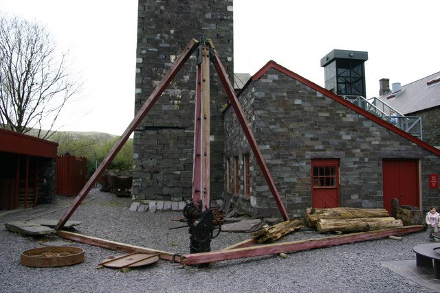 The waterwheel tower at the National Slate Museum