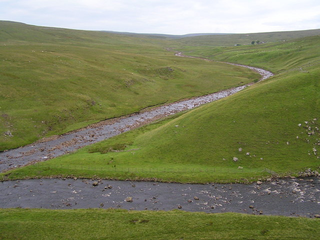 The Maize Beck joining the River Tees