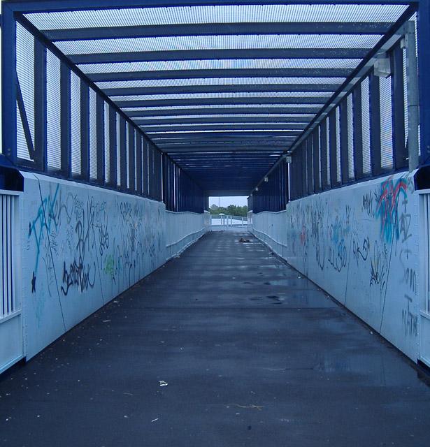 Rail footbridge near Argyle Street