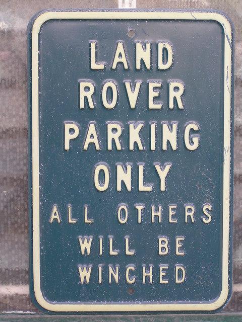 Notice outside ironmongers.