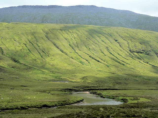 River Dionard beneath Meall nan Cra