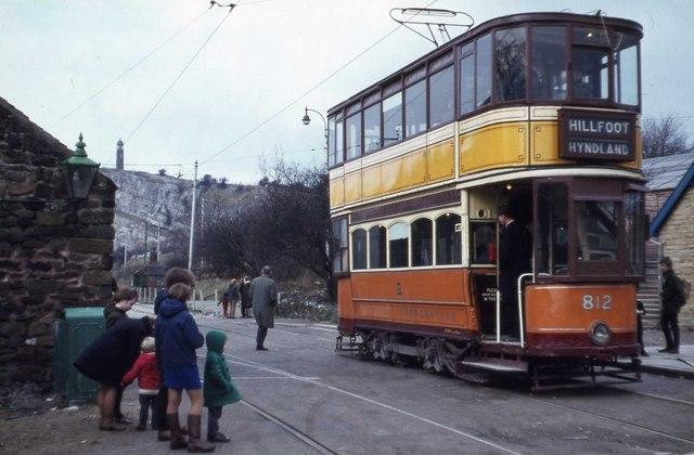 Tram at Crich 1970