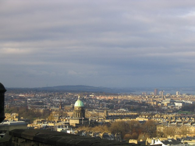 The Forth Bridge from Edinburgh Castle