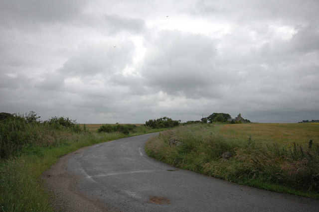 Minor road to Backhill and Meadowfield