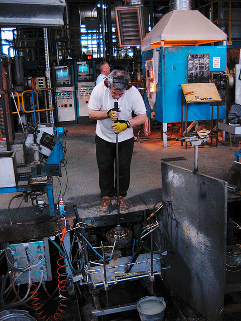 Waterford Crystal factory - Glassblower