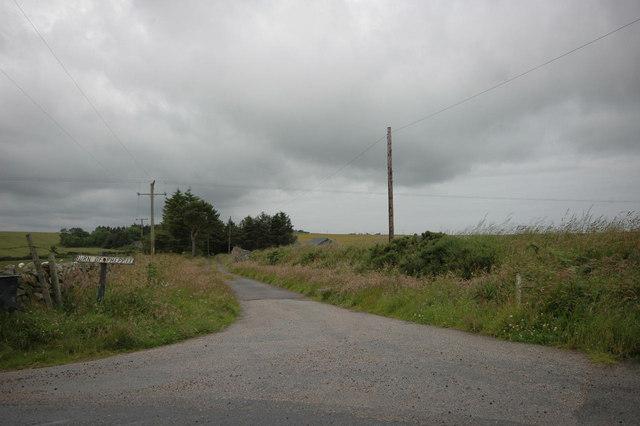 Farm road near A90