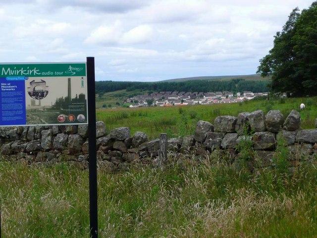 "The site of ""Tar"" Macadam's tar works at Muirkirk"