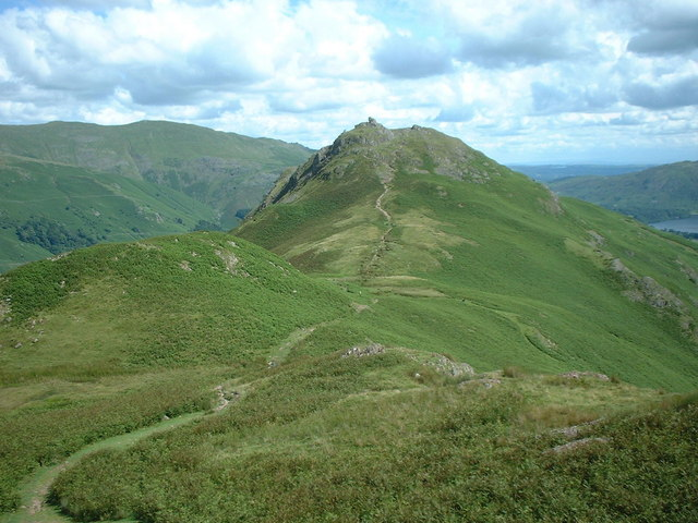 Helm Crag from descent of Gibson Knott