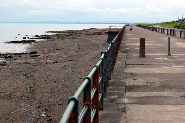 Maryport Promenade, just after high tide